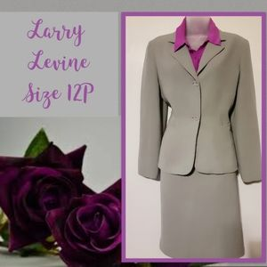Larry Levine Light Gray, Suit & Skirt. Size 12P